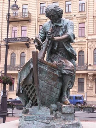 Царь-плотник памятник Петру Первому. Санкт-Петербург.
