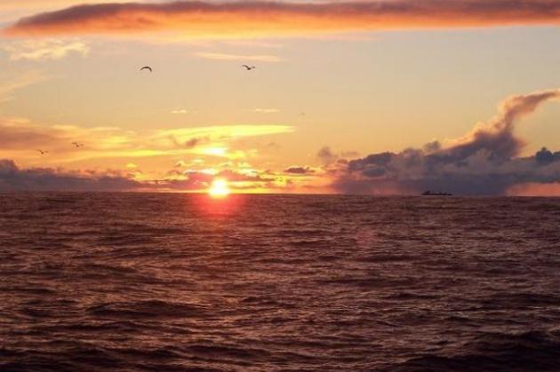 Охотское море.
