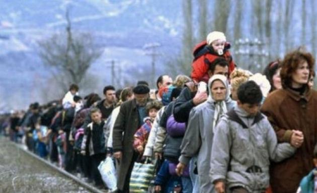 Беженцы.