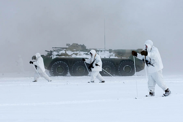 В Арктике началось межвидовое учение сил и войск Северного флота