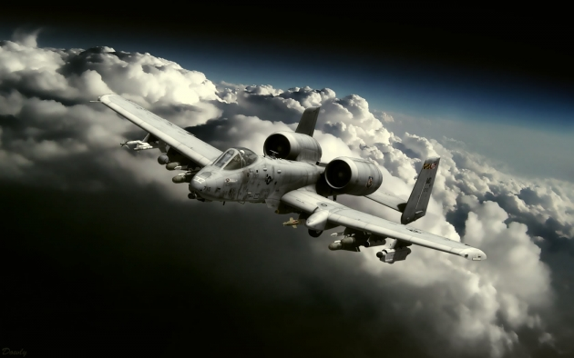 Штурмовик ВВС США  A-10 «Тандерболт» II (Warthog).