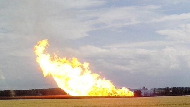 Подрыв газопровода.
