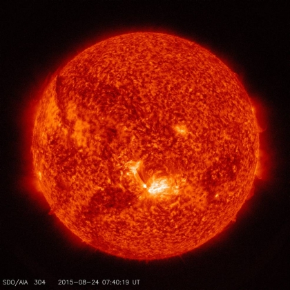 Аппарат NASA сфотографировал вспышку на Солнце