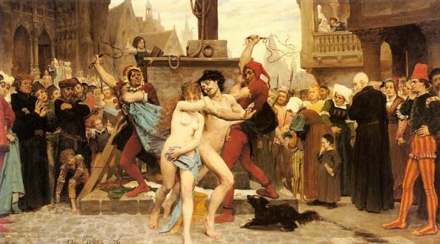 Жюль Гарнье Арсен. Наказание любовников. 1876 год