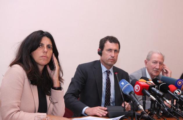 Представители Венецианской комиссии на пресс-конференции в Ереване. © Photolure