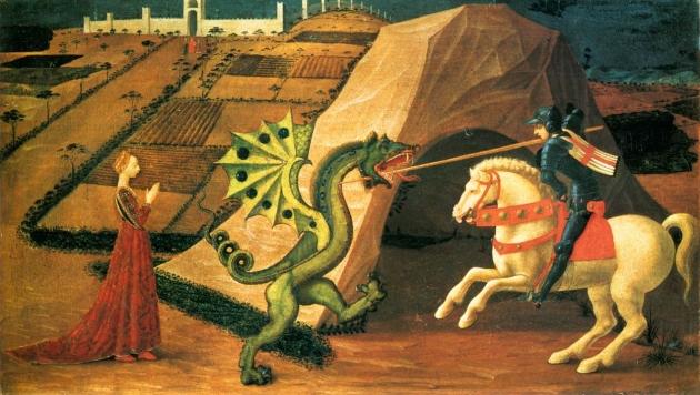 Паоло Учелло. Св. Георгий и змей. 1430-1435 гг.