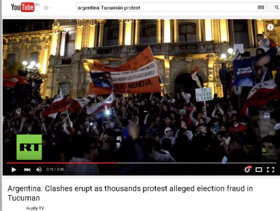 Беспорядки в Аргентине. Скриншот: RT / youtube.com