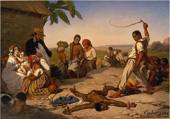 Марсель Вердье. Наказание на четырех кольях в колониях. 1849 год