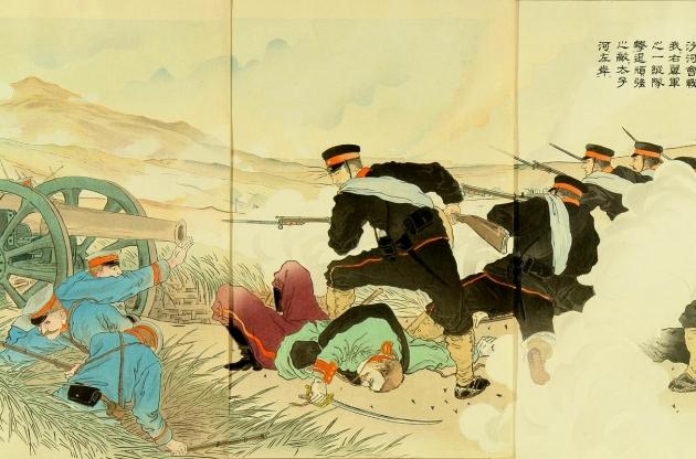 Японская гравюра времен Русско-японской воны (фрагмент)
