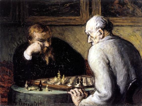 Оноре Домье. Игроки в Шахматы. 1863 год