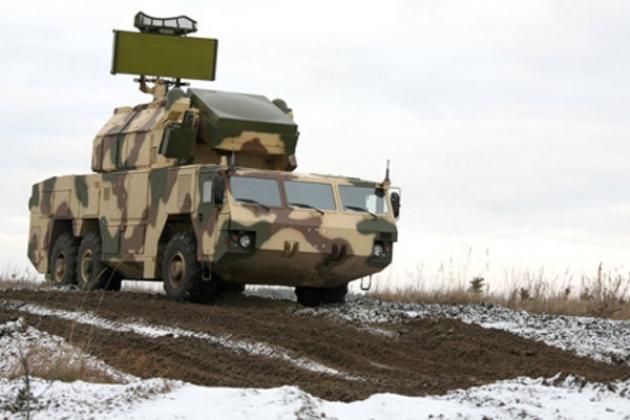 Боевая  машина  зенитного ракетного комплекса «Тор-М2К»
