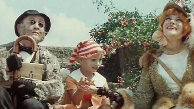 Цитата из видеофильма» Приключение Буратино». 1975. Режиссер Леонид Нечаев.