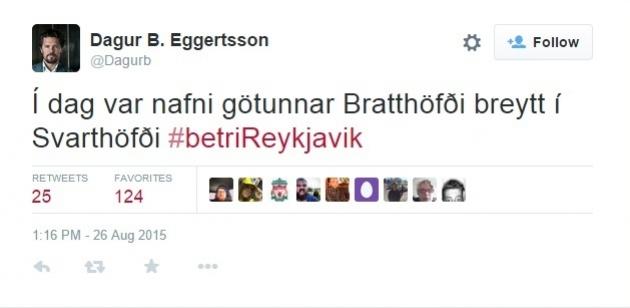 Фото: Скриншот Twitter Dagur B. Eggertsson