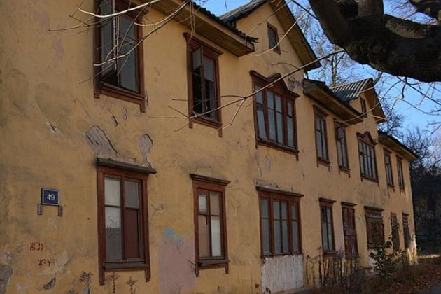 Аварийный дом в Брянске.