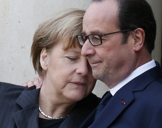 Ангела Меркель и Франсуа Олланд.