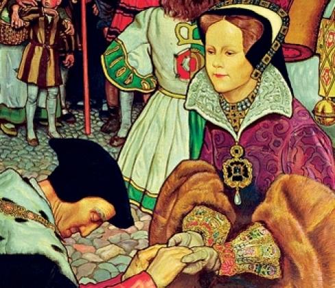 Джон Байем Листон Шоу. Вступление в Лондон королевы Марии I Тюдор (Кровавой Мэри) в 1553 году (1910)