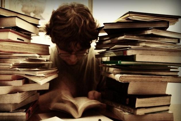 Чтение литературы.
