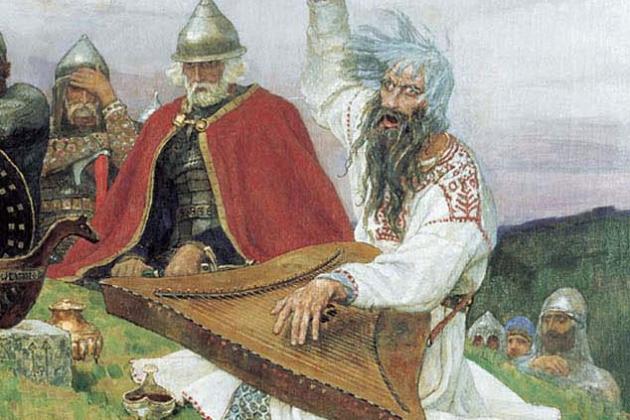 Виктор Васнецов. Баян (фрагмент). 1910