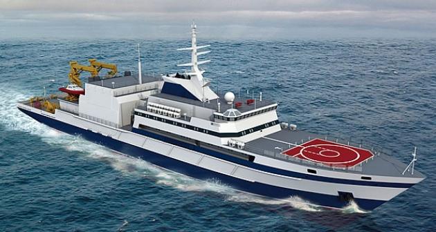 3d макет спасательного судна  «Игорь Белоусов».