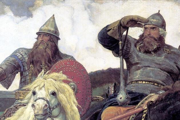 Виктор Васнецов. Три богатыря (фрагмент). 1881-1898