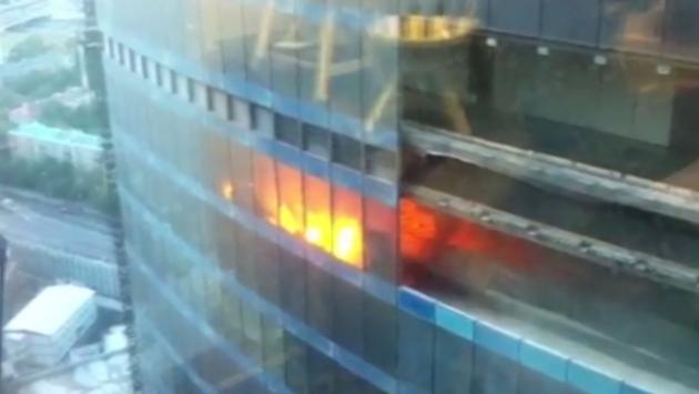 Второй за сутки пожар произошёл на территории «Москва-Сити»