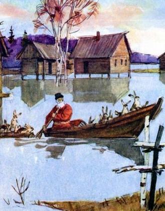Дедушка Мазай и зайцы. Стихи Николай Некрасов