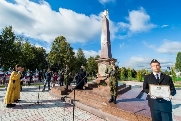 В калужском селе Ильинское установили стелу «Рубеж воинской доблести»