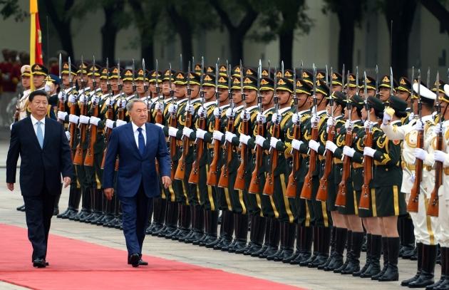 Си Цзиньпин и Нурсултан Назарбаев.