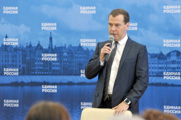 Дмитрий Медведев — председатель правительства РФ.