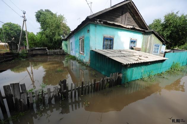 Затопленный Уссурийск.
