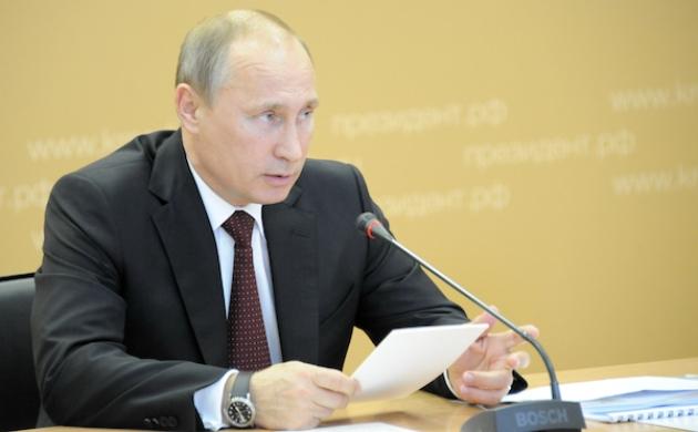 Президент РФ Владимир Путин. Фото: забайкальскийкрай.рф