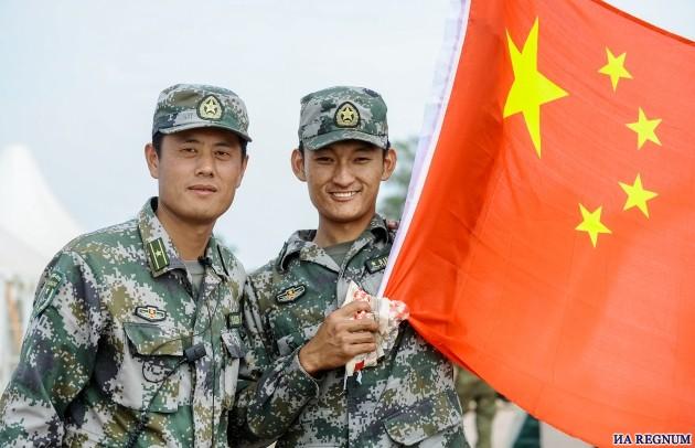 Совместные учения Китая и России.