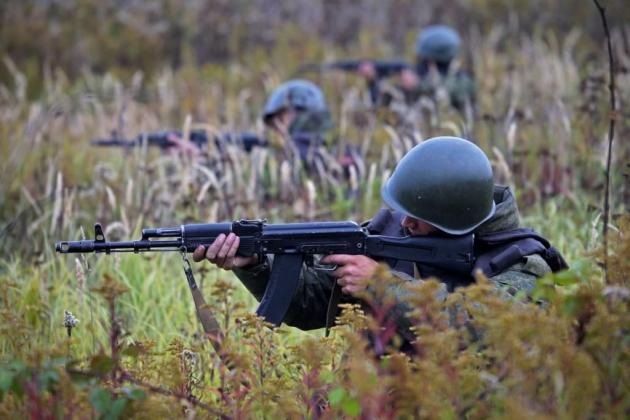 Учения на полигоне Павенково под Калининградом.