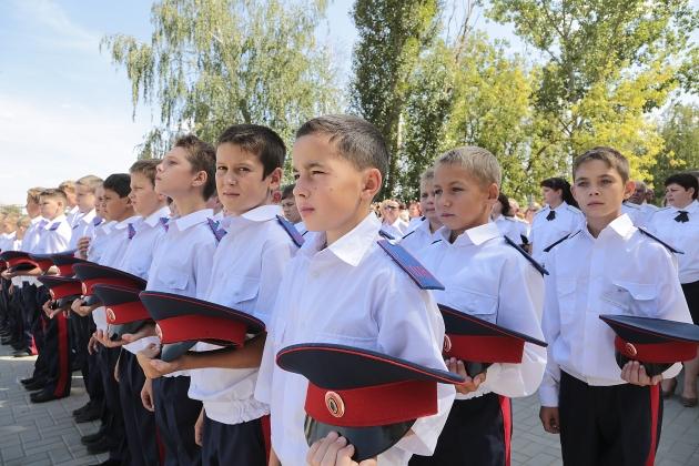 Первый набор казачат в Орловский казачий кадетский корпус: фото donland.ru