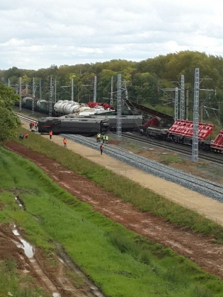 Железнодорожная авария на перегоне Мезенский — Гагарский Свердловской железной дороги.