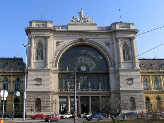 Железнодорожный  вокзал Колети в восточной части Будапешта.
