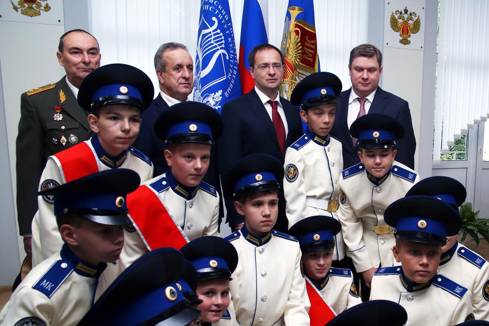 Открытие кадетского корпуса в Химках.