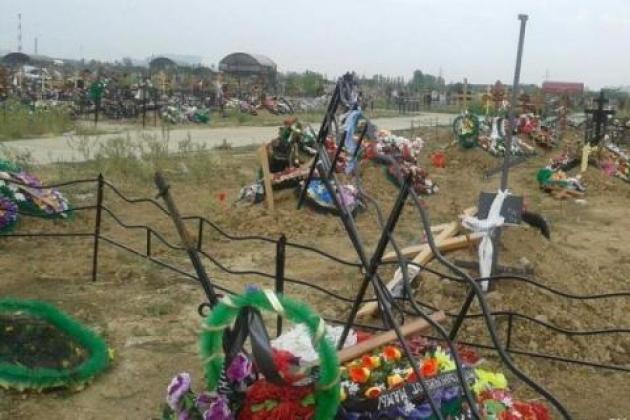 Оскверненные могилы на кладбище в г. Волгодонске: фото gazetavolgodonsk.ru