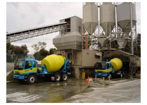 Завод по производству бетона.