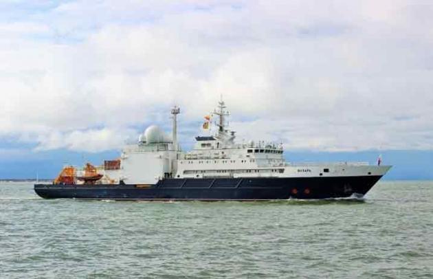 Новейшее океанографическое судно «Янтарь».