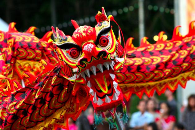 Китайский дракон ждёт.