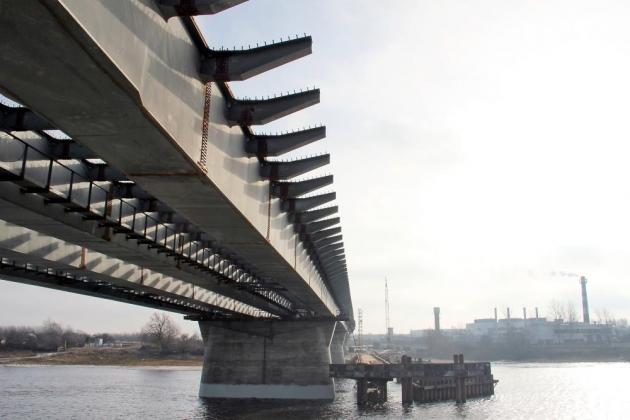 Новый мост через реку Волхов.