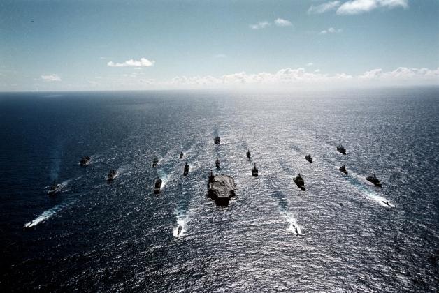 Группа боевых кораблей США.