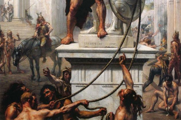 Джозеф Ноэль Сильвестр. Разграбление Рима, 1890
