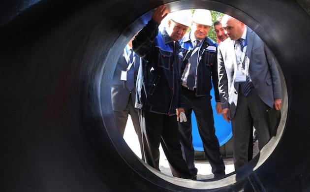 Алексей Миллер осматривает строящийся трубопровод «Сила Сибири». Фото: gazprom.ru