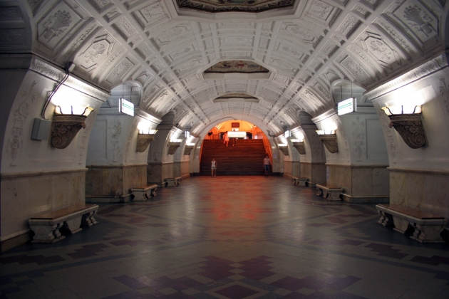 Станция метро «Белорусская-кольцевая».