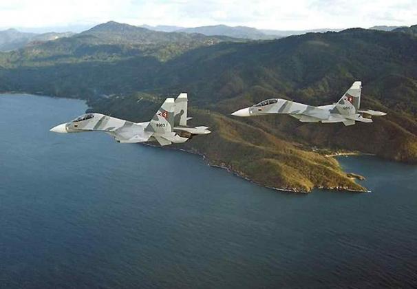 Два Су-30СМ.