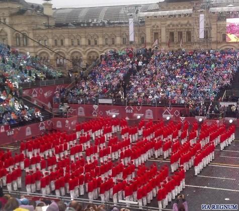 День города в Москве открыли на Красной площади, несмотря на дождь
