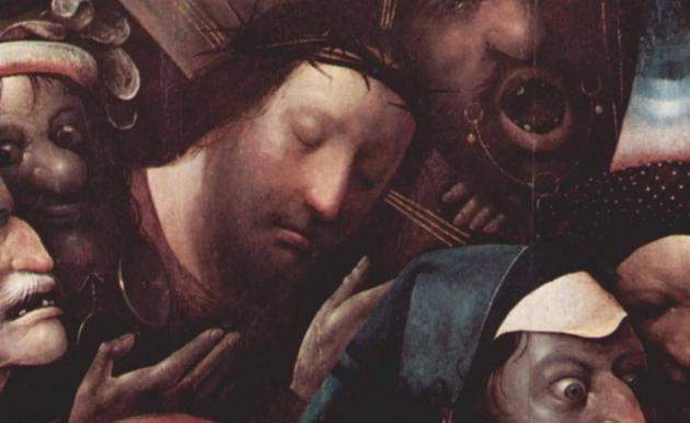 Иероним Босх. Несение креста (1490-1500). Фрагмент