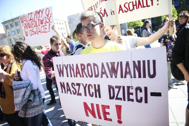 Протесты в Вильнюсе